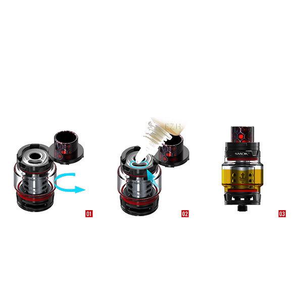 Smok X-Priv Kit schwarz-rot