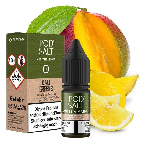 Pod Salt Fusion Amnesia Mango Nikotinsalz Liquid 10 ml 20mg