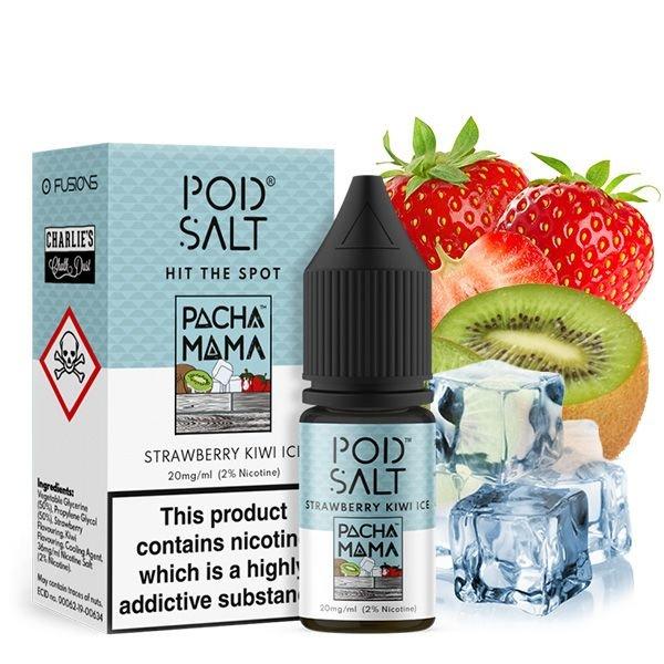 Pod Salt Fusion Pacha Mama Strawberry Kiwi Ice Nikotinsalz Liquid 10 ml 20mg