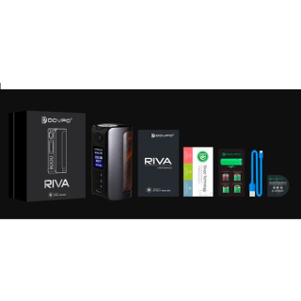 Dovpo Riva DNA 250C Mod Akkuträger silver-plain-cognac